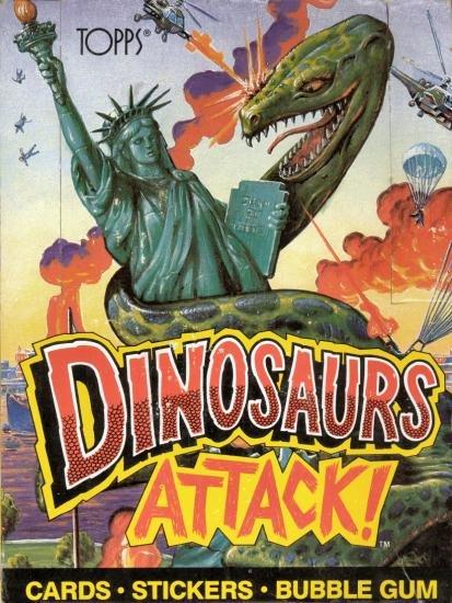 Topps Dinosaurs Attack! non-sports cards wax box - 48 packs - unopened - kinda like Jurassic Park