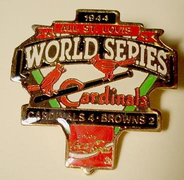 1944 Cardinals vs Browns cloisonné or enamel pin