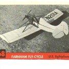 1956 Topps Jets card #68 Farnham Fly-Cycle US Lightplane VG