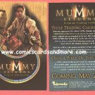 2001 Mummy Returns promo promotional card #MR-1 NM/M Brendan Frasier The Rock