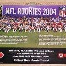 "2004 NFL football Rookies poster 11 3/8"" x 17"" - Ben Roethlisberger"