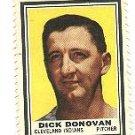 1962 Topps baseball stamp - Dick Donovan Cleveland Indians