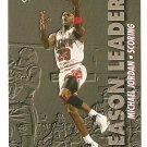 1993 - 1994 Upper deck basketball card #166 Michael Jordan Season Leader NM/M