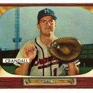 1955 Bowman baseball card #217 Del Crandall Milwaukee Braves EX/NM