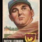 1953 Topps baseball card #155 Dutch Leonard, G/VG, Chicago Cubs