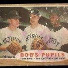 1962 Topps baseball card #72 Bob's Pupils, fair condition, Detroit Tigers