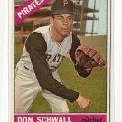 1966 Topps baseball card #144 Don Schwall EX Pittsburgh Pirates