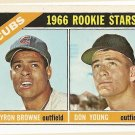 1966 Topps baseball card #139 Chicago Cubs rookies Byron Browne & Don Young NM