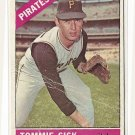 1966 Topps baseball card #441 Tommie Sisk G/VG (glue smudge on back) Pittsburgh Pirates