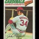 1977 Topps baseball card #19 (B) John D'Acquisto EX St. Louis cardinals