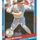 1992 Donruss baseball card #105 Mark McGwire NM/M Oakland A's