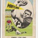 1961 Nu-card football card #128 Gary Collins G/VG (creased)