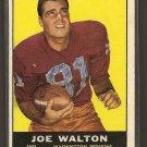 1961 Topps football card #126 (B) Joe Walton G/VG (ink on front) Washington Redskins