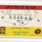 1964 Philadelphia (Philly) football card #14 Don Shula MINT Baltimore Colts vs Chicago Bears