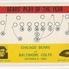 1964 Philadelphia (Philly) football card #28 (C) George Halas Chicago Bears vs Baltimore Colts NM