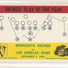 1964 Philadelphia (Philly) football card #112 Norm Van Brocklin Minnesota Vikings LA Rams VG/EX
