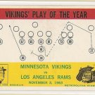 1964 Philadelphia (Philly) football card #112 (B) Norm Van Brocklin Minnesota Vikings LA Rams EX