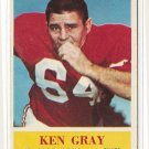 1964 Philadelphia (Philly) football card #172 Ken Gray NM St. Louis cardinals