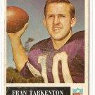 1965 Philadelphia (Philly) football card #110 Fran Tarkenton G/VG Minnesota Vikings