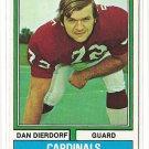 1974 Topps football card #32 Dan Dierdorf NM St. Louis cardinals