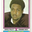 1974 Topps football card #110 Greg Pruitt NM Cleveland Browns