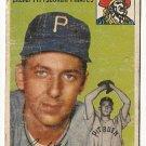 1954 Topps baseball card #134 Cal Hogue fair condition Pittsburgh Pirates