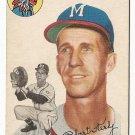 1954 Topps baseball card #176 Bob Keely VG Milwaukee Braves
