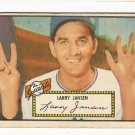 1952 (original) Topps baseball card #5 (B) Larry Jansen good red back