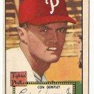 1952 (original) Topps baseball card #44 (B) Con Dempsey VG/EX black back