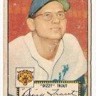 1952 (original) Topps baseball card #39 (B) Paul Dizzy Trout P/F red back