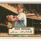 1952 (original) Topps baseball card #92 (B) Dale Mitchell EX red back
