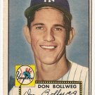1952 (original) Topps baseball card #128 Don Bollweg VG