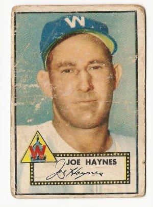 1952 (original) Topps baseball card #145  Joe Haynes fair