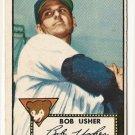 1952 (original) Topps baseball card #157 (B) Bob Usher EX