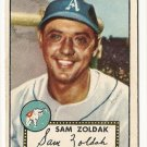 1952 (original) Topps baseball card #231 (B) Sam Zoldak VG