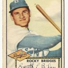 1952 (original) Topps baseball card #239 Rocky Bridges good
