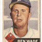1953 Topps baseball card #4 Ben Wade good Brooklyn Dodgers