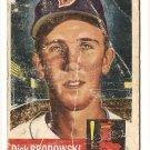1953 Topps baseball card #69 Dick Brodowski poor