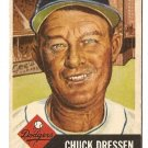 1953 Topps baseball card #50 (B) Chuck Dressen Good+ condition, Brooklyn Dodgers