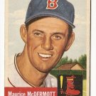1953 Topps baseball card #55 (B) Maurice McDermott G+ Boston Red Sox