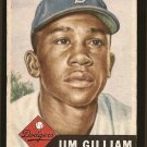 1953 Topps baseball card #258 Jim Gilliam RC VG (light surface crease across the top)