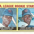 1967 Topps baseball card #569 (B) Rod Carew / Hank Allen rookie card RC EX