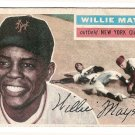 1956 Topps baseball card 130 (C) Willie Mays EX (nice shape - slightly faded colors) New York Giants