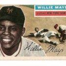 1956 Topps baseball card #130 (D) Willie Mays EX New York Giants