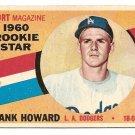 1960 Topps baseball card #132 Frank Howard RC EX/NM Los Angeles Dodgers