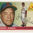 1955 Topps baseball card #98 Johnny Riddle EX St. Louis cardinals