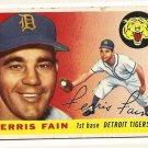 1955 Topps baseball card #11 Ferris Fain good Detroit Tigers