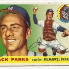 1955 Topps baseball card #23 Jack Parks good Milwaukee Braves