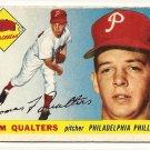 1955 Topps baseball card #33 (D) Tom Qualters good Philadelphia Phillies