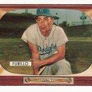 1955 Bowman baseball card #169 Carl Furillo VG/EX